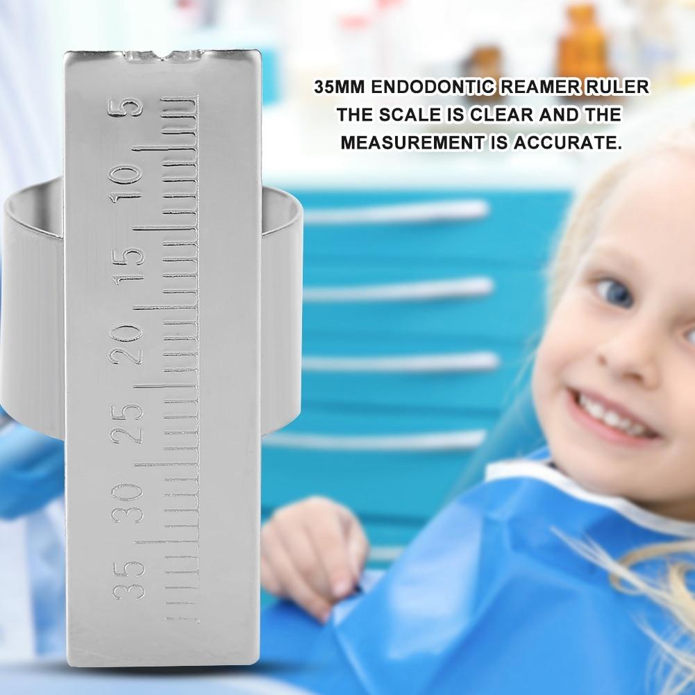 5Pcs Dental Ruler Stainless Steel Dental Endodontic Instrument Finger Ruler Autoclavable Endodontic Ruler Dental Gauge Dentist bettina basrani endodontic radiology