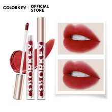 Colorkey 17 Colors Glamour Matte Lip Gloss Glaze Smooth Liquid Lipstick Non-Fading Waterproof for Co