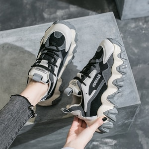 2020 New Stylish Woman Sports Shoes Increase 7CM INS Sneakers Women Height Platform Sports Shoes Walking Run High Heel Trainers
