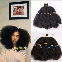 Joy & luck Marley tresses courtes Afro crépus bouclés Crochet tressage synthétique Ombre Extensions de cheveux pour les femmes africaines tresse