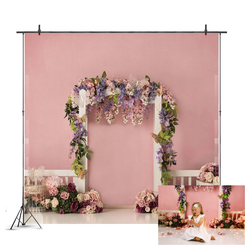 photography background soul train photo booth props party decorations disco birthday banner photo background tv dance background Colorful Flower Photography Backdrop Baby Shower Wedding Happy Birthday Party Photo Background Studio Booth Decoration Banner
