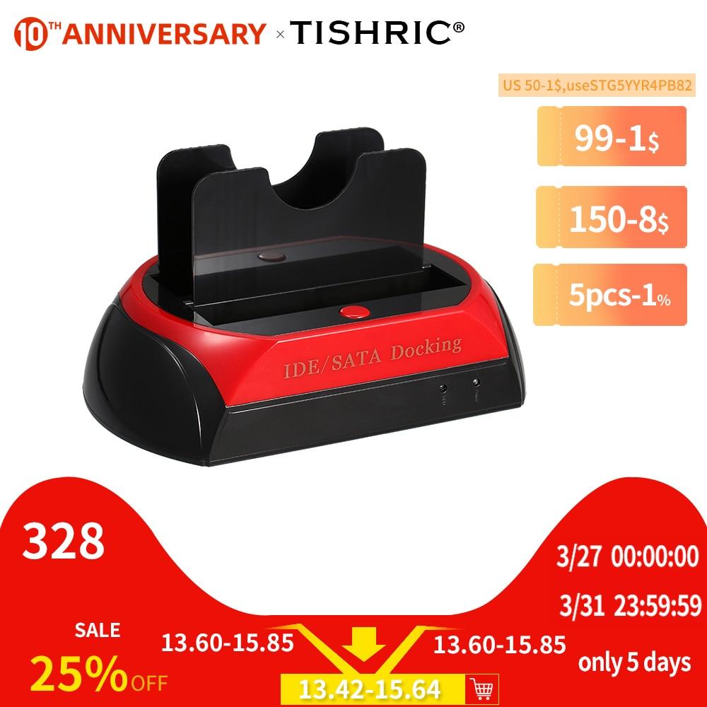 TISHRIC IDE SATA Dual все в 1 Hd/HDD док-станция/док-станция жесткий диск/диск Hdd 2,5 3,5 ридер Usb EU внешний корпус Корпус чехол