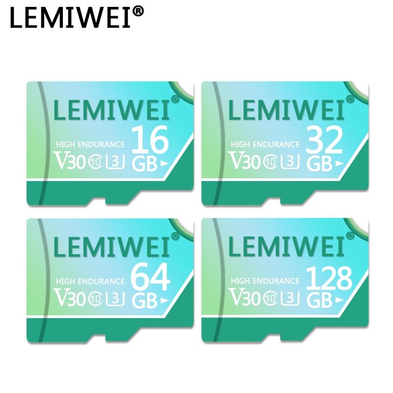 LEMIWEI Speicher Karte 128GB 64GB V30 High Speed Class 10 U3 TF-Karte 32GB 16GB für Tablet PC Smartphone