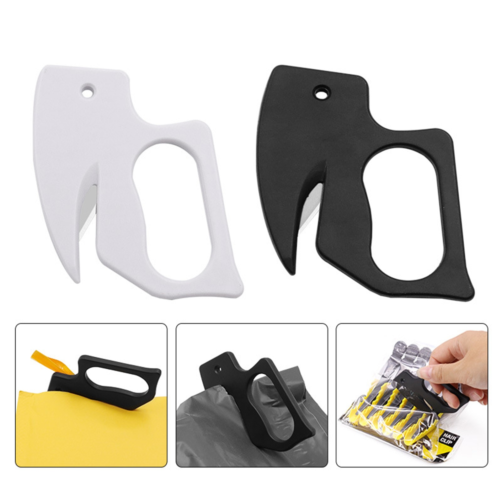 100pcs sharp mail envelope plastic letter opener safety paper guarded cutter blade ce approved pocket tool Plastic Letter Opener Mini Sharp Letter Mail Envelope Opener Safety Papers Guarded Cutter Blade Office Equipment