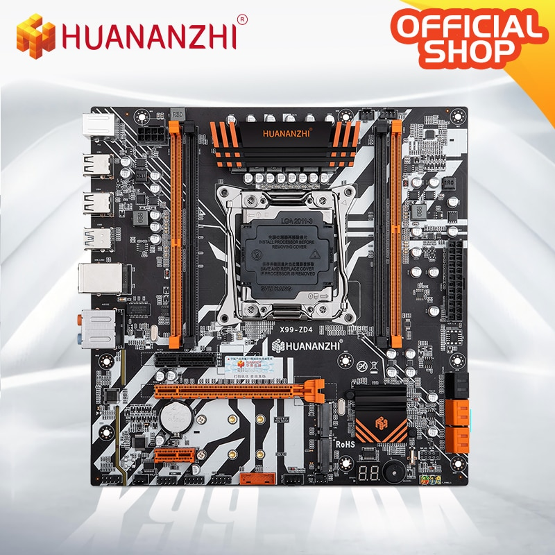 HUANANZHI X99 ZD4 X99 Motherboard Intel X99 LGA 2011-3 All Series DDR4 RECC M.2 PCI-E NVME NGFF M ATX Server Motherboard