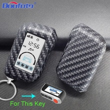 Car Key Cover Case Bag Styling Accessories For Starline A93 A63 Russian Version Two Way Car Alarm LC