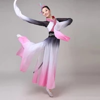 chinese style hanfu classical traditional female ink sleeves performance dance costume rave festival clothing