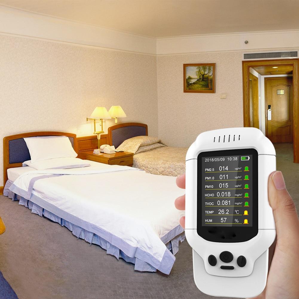Analizadores Puerto USB Hospital temperatura precisa hogar PM 2,5 Detector pantalla Digital Oficina Monitor de calidad del aire probador de humedad