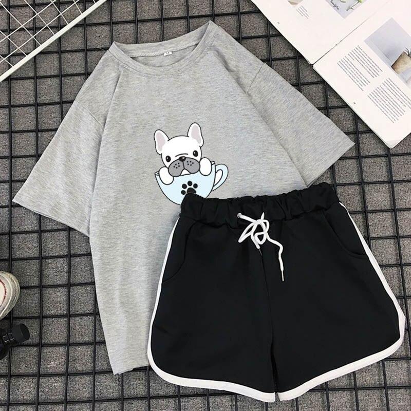 Último y mejor diseño de calidad, conjuntos gemelos para mujeres/logotipo de marca personalizada, camiseta ajustada y conjunto corto