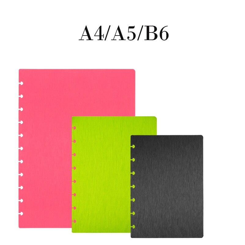 A5A4B6 cubierta cepillada del patrón del agujero de la seta cubierta del cuaderno de la protección del medio ambiente PP Material cubierta engrosada cubiertas del cuaderno
