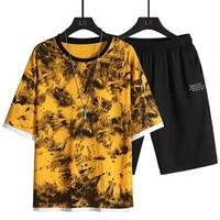 mens summer clothes 2 piece set outwear outfits shorts set men tracksuit casual clothing fashion men street fashion sweatsuit