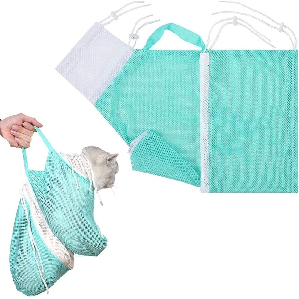 Купальный мешок для кошки кошка Уход за лошадьми для душа чистая Регулируемый кошки удерживающие сумка для предотвращения царапин для купания стрижки ногтей уши в чистоте