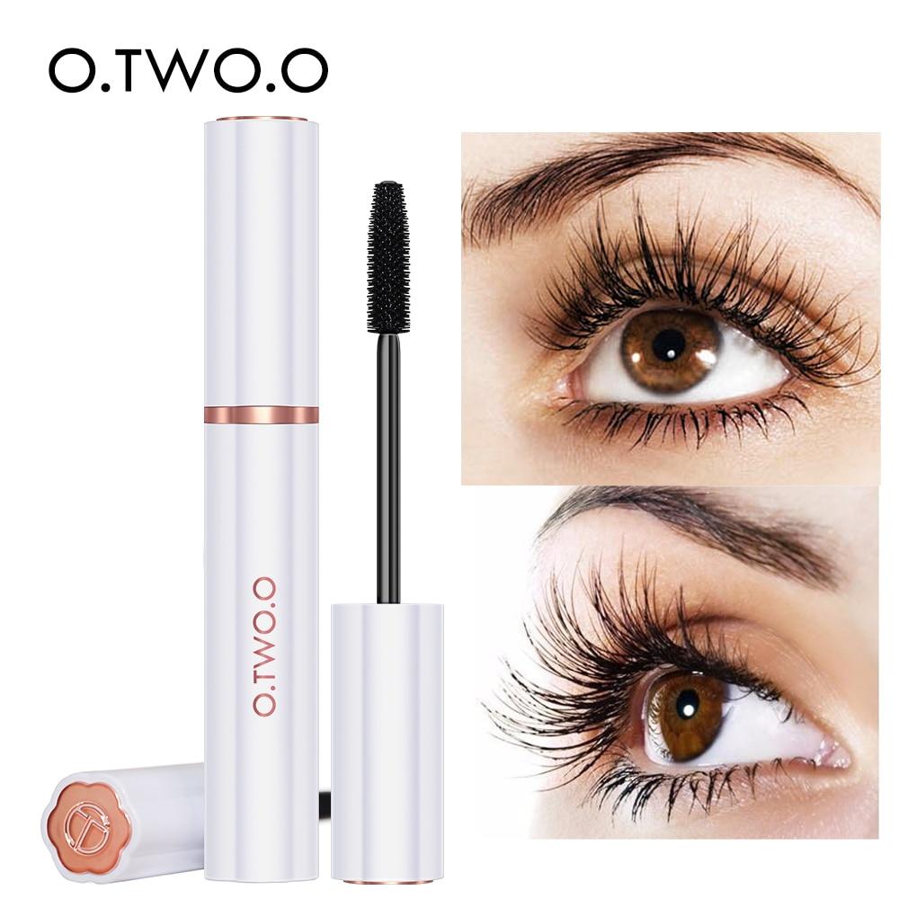 O.TWO.O Super Lashes Mascara Waterproof Silk Fiber Mascara Black Long Curling Eyelash Extensions Sexy Eyes Makeup Cosmetics