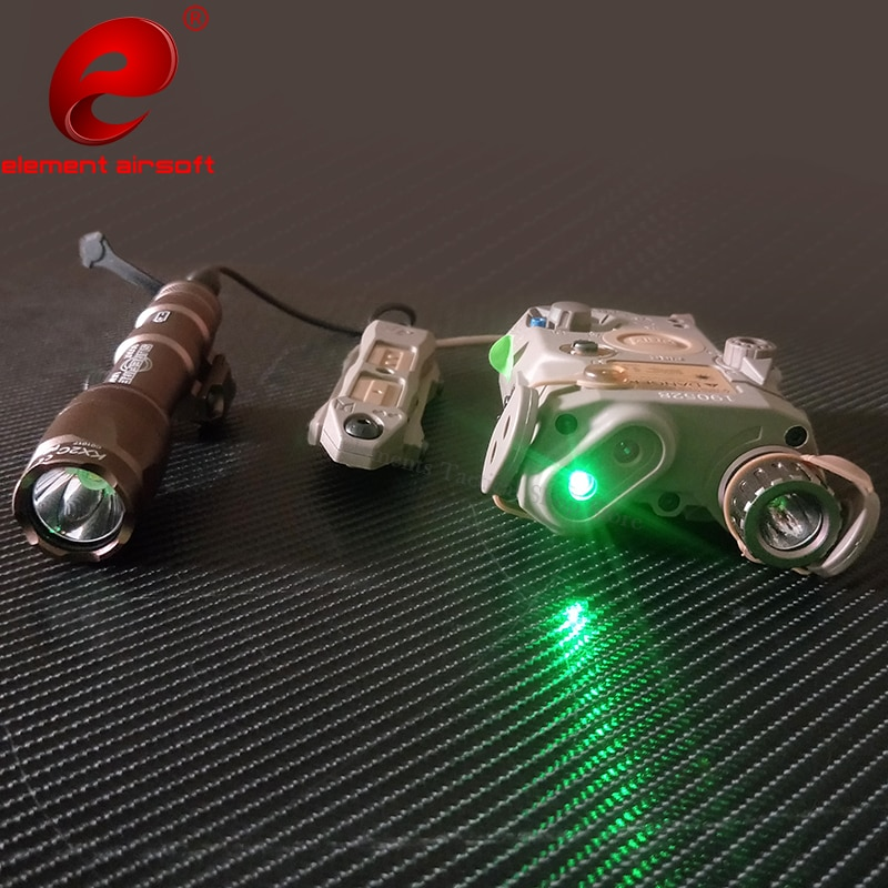 Element Airsoft PEQ 15 luz táctica Surefir M600 linterna PEQ LA-5C verde láser IR pistola arma láser Luz PEQ 15