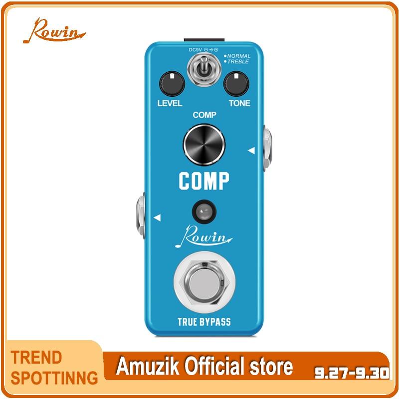 Rowin LEF-333 педаль гитарного компрессора, цифровые педали с эффектами Comp для электрогитары, классические студийные компрессоры