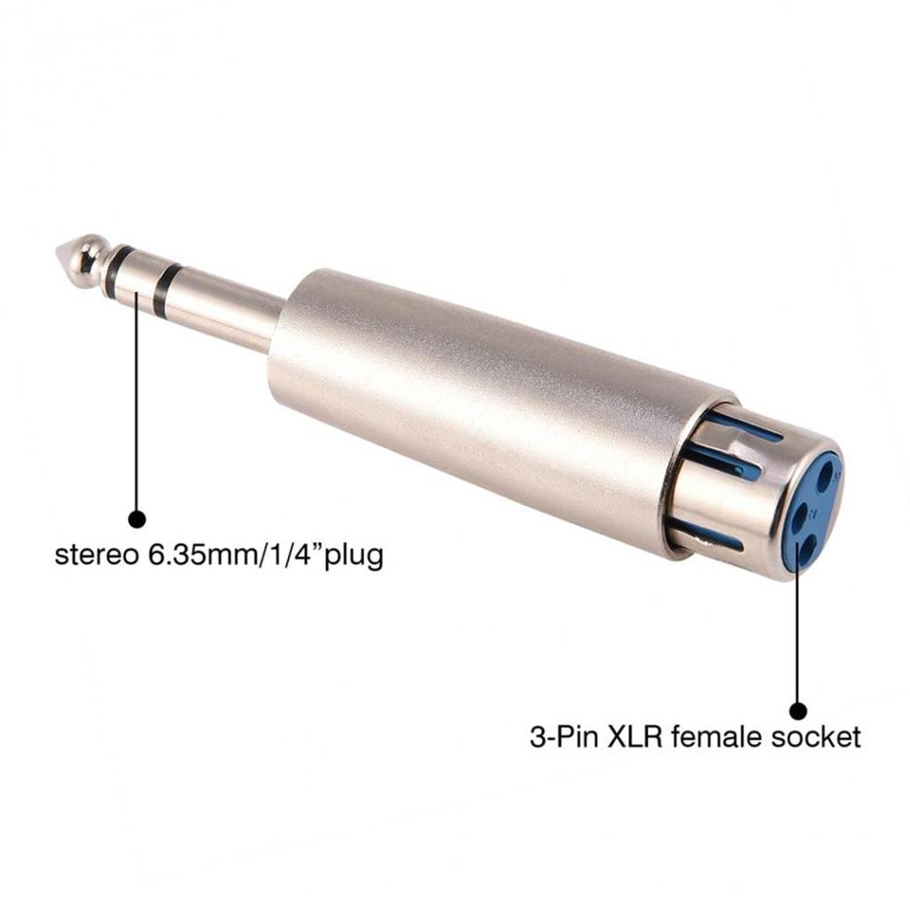 3-Pin XLR Fêmea para 1/4 Cabo de Áudio Estéreo de 6.35mm Macho TRS Cabo Adaptador de Microfone