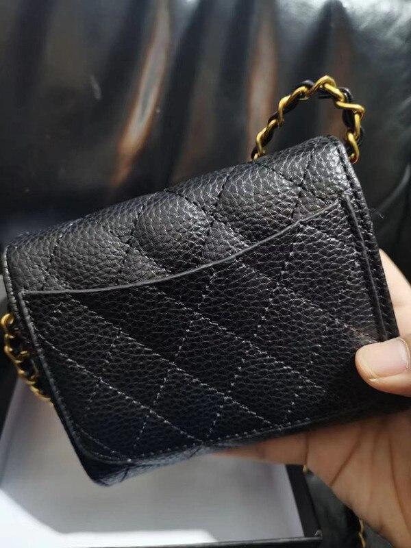 Новый Кошелек на цепочке, короткая сумка для карт с рисунком икры и личи, маленький кошелек, ручная сумка printio сумка с абстрактным рисунком