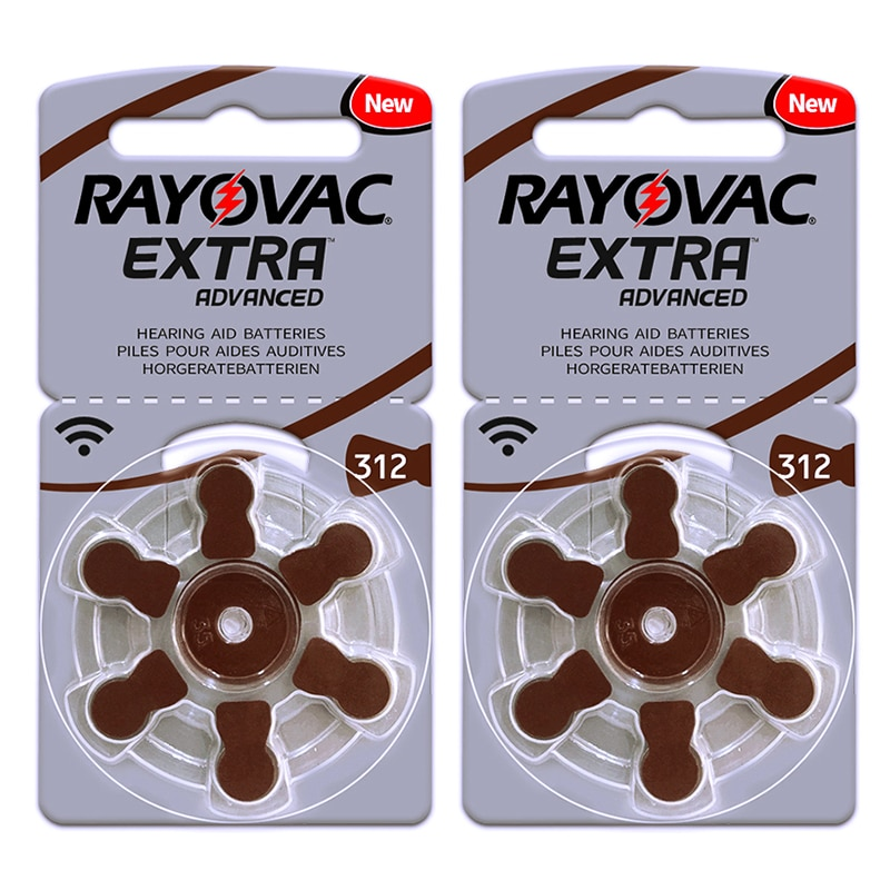60x Rayovac extra Hearing Aid Batteries 312 A312 312A P312 PR41 UK ITC HSE Hearing Aids Zinc Air But
