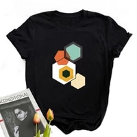 geometry clothes women cool friends black tee shirts moon mountain graphic printing festival women fashion tops for teenagers