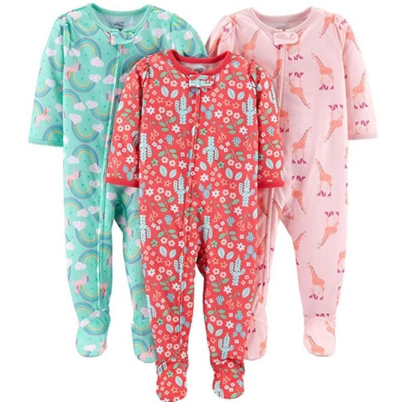 Купить с кэшбэком Boy, girl, baby, cotton, cloth, bag, jumpsuit, romper, child, warm Cotton onesies, boys and girls onesies pajamas baby clothes