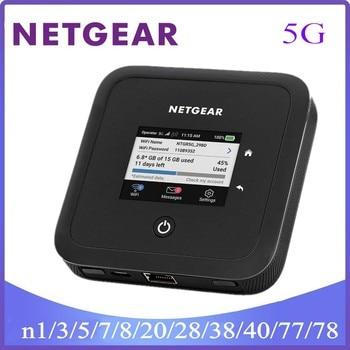 NETGEAR Nighthawk M5 Mobile 5G Router With Sim Slot Unlocked (MR5200) - Ultrafast 5G   Connect Up to 32 Devices   Mobile wifi ro