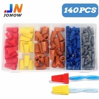 140pcsbox spring insert twist nuts caps type connection wire terminal practical assortment kit cable faston plastic conectors