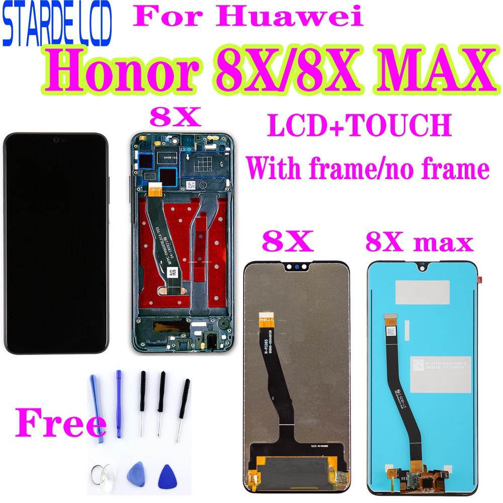 Para Huawei Honor 8X, pantalla LCD, digitalizador de pantalla táctil, reemplazo para Honor 8X MAX, pantalla LCD, JSN-L22 de JSN-L21, ARE-AL00 con Bez
