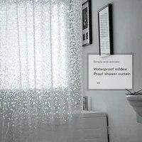 3D rideau de douche etanche rideau de douche Transparent bain pure salle de bain rideaux pour la decoration de la maison accessoires de salle de bain
