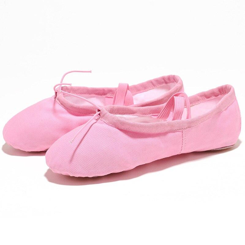 USHINE EU22-45 tkaniny głowy joga kapcie nauczyciel Ginásio ćwiczeń w pomieszczeniach nd płótnie różowy balet taniec buty dla dzieci