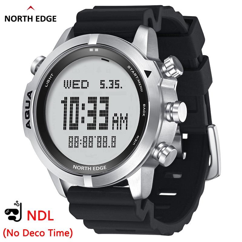 NORTH EDGE Men's Professional Diving Computer Watch Scuba Diving NDL (No Deco Time) 50M Dive Watches