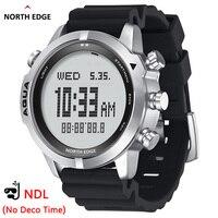 Мужские Профессиональные Компьютерные часы NORTH EDGE для дайвинга NDL (без деко времени), 50 м, часы для дайвинга, альтиметр, барометр, компас