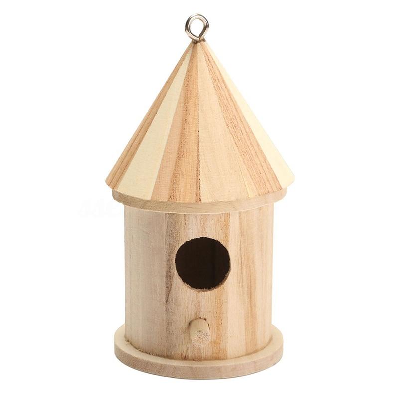 Botique-nido colgante de madera para casa de pájaros, nido colgante, caja con gancho para decoración del jardín del hogar, tamaño de madera 16cm * 7,8 cm