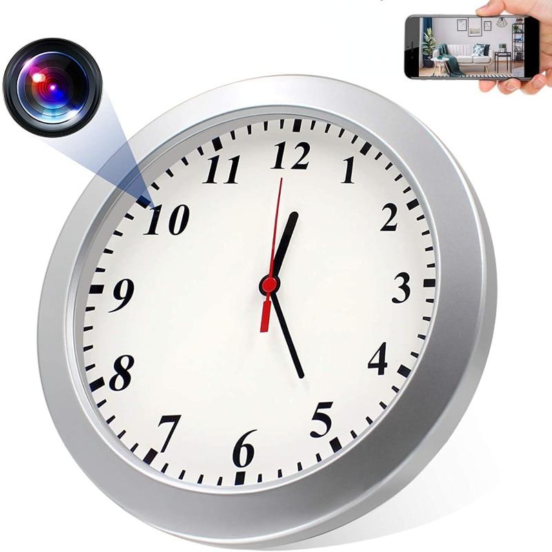 1080P كامل HD كاميرا ويب صغيرة كاميرا ويب مع واي فاي أمن الوطن ساعة حائط بكاميرا مربية كام دعم الهاتف المحمول عن بعد