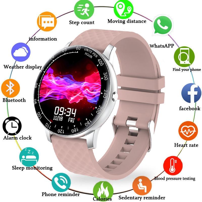 Reloj inteligente LIGE para mujer, reloj deportivo para hombre, impermeable, con pantalla redonda completamente táctil, 2020, nuevo reloj inteligente, reloj inteligente
