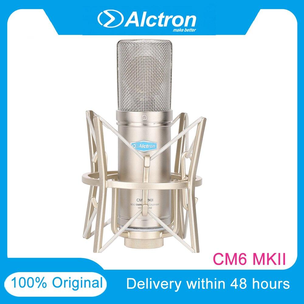 Alctron CM6MKII 대형 다이어프램 FET 전문 콘덴서 유선 마이크 녹음 키트 가라오케 용 저소음 사운드 스튜디오