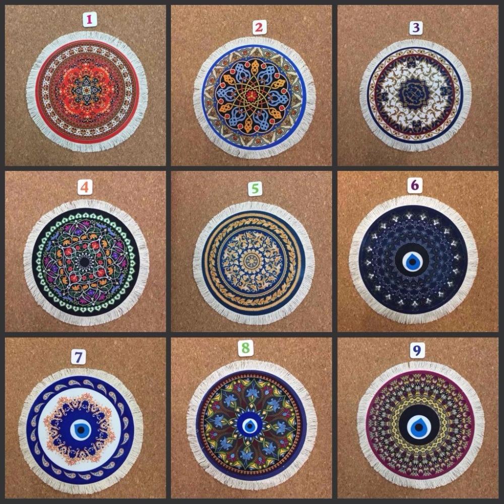 Mairuige круглый коврик для мыши персидский ковер Стиль Пользовательские мягкие игровые компьютерные игры