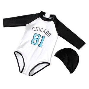 2021 NEW Girls Swimsuit One Piece Children's Swimwear NUMBER 81 toddler Bathing Suit Sun-proof Beachwearкупальник детский