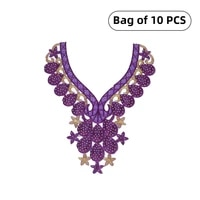 embroidered lace neckline collar trim neck applique clothes dress sewing supplies craft classic accessories