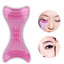 1 Pc 2020 Blue Pink Eyeliner Model Makeup Eye Helper Device Tool Draw Eye Liners Guide Card Mold Eye