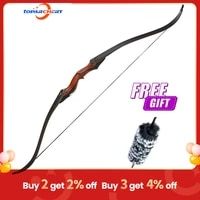 toparchery 60inch hunting bow archery recurve bow takedown bow longbow for right handed wooden riser for targeting shooting