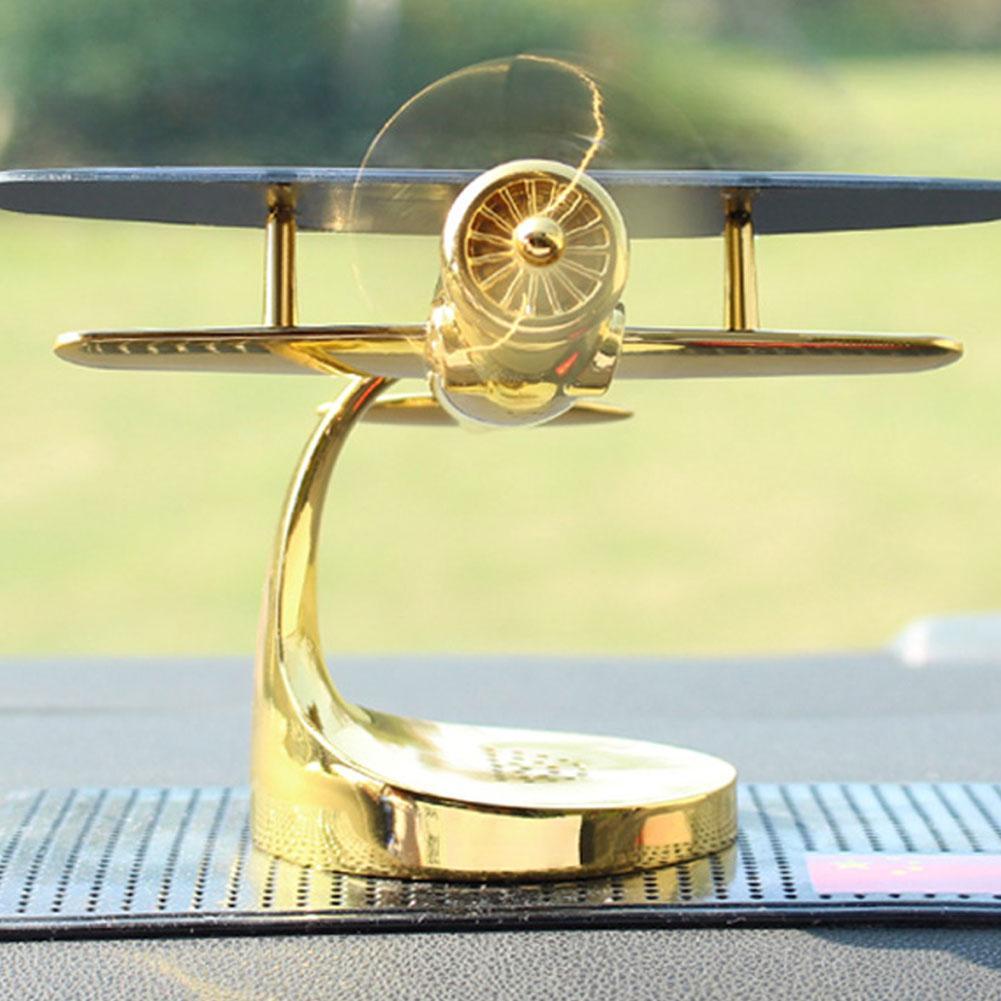 Decoración del difusor de Aroma del avión del ornamento del modelo de avión de la energía Solar de estilo del coche 2019