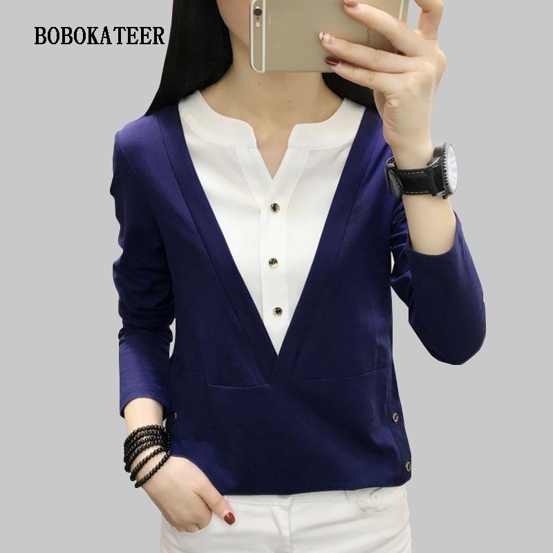 BOBOKATEER Long Sleeve Blouse Cotton Shirt Womens Tops And Blouses 2020 Chemisier Femme Plus Size Women Clothing Bluzka Damska