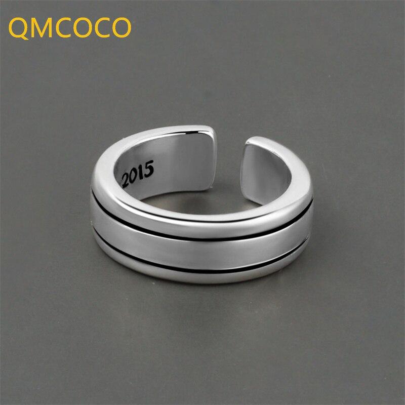 qmcoco-925-серебро-гладкая-поверхность-простой-ins-стиль-2021-модный-дизайн-открытое-регулируемое-геометрическое-кольцо-для-женщин-ювелирные-изде