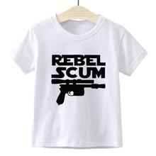 REBEL SCUM 스타 워즈 카와이 옷 꽤 멋진 펑크 보그 어린이 티셔츠 루즈 하라주쿠 키즈 T 셔츠 그래픽 T 셔츠