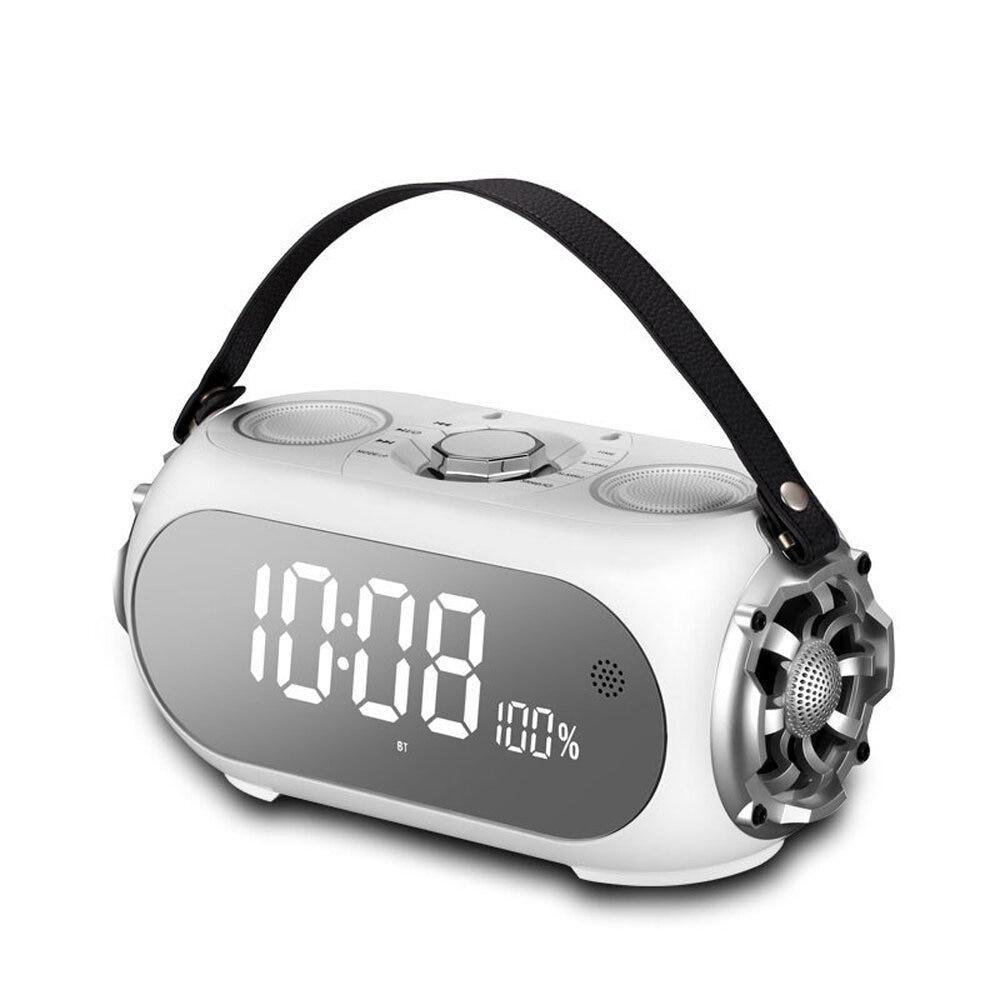 Q60 3 Horns Double Diaphragm Wireless bluetooth Speaker 3.5mm Audio Player FM Transmitter Mega Bass Alarm Clock Speaker with Mic enlarge