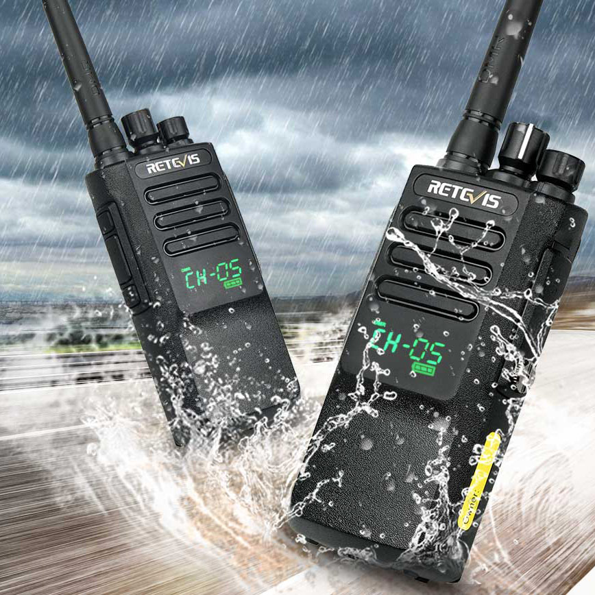 2pcs High Power DMR Radio Digital IP67 Waterproof Walkie Talkie Retevis RT50 Display UHF VOX Portable For Factory Warehouse Farm