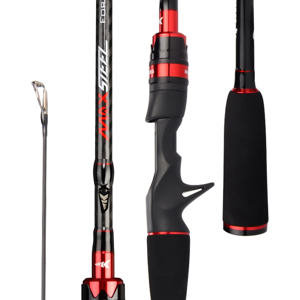 Max Steel Rod Carbon Spinning Casting Fishing Rod with 1.80m 2.13m 2.28m 2.4m Baitcasting Rod for Bass Pike Fishing enlarge