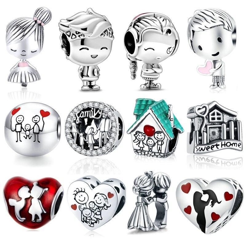 bofuer-серебро-925-семья-сладкий-дом-вечная-любовь-бусины-подходят-к-оригинальным-фотоэлементам-шармы-Браслет-«сделай-сам»