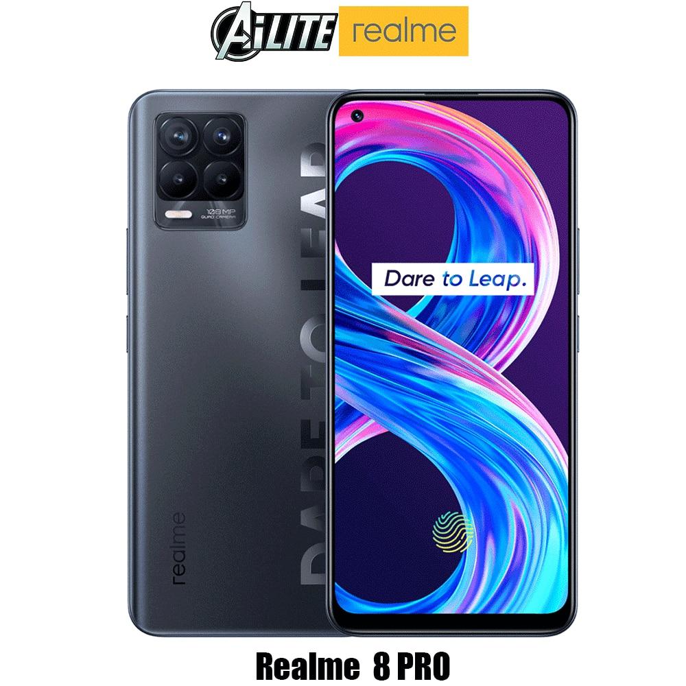 Перейти на Алиэкспресс и купить Глобальная версия Realme 8 pro смартфон 6,4 ''amoled 50 Вт SuperDart заряд Snapdragon 720G 4500 мА/ч, Батарея 108MP ультра Quad Камера