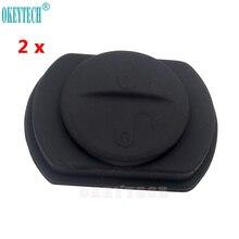 OkeyTech-bouton-poussoir en Silicone 2 pièces   Réparation de bouton-poussoir de bonne qualité pour Mitsubishi Colt guerrier, 2 boutons, livraison gratuite